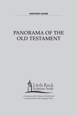 Panorama of the Old Testament—Answer Guide